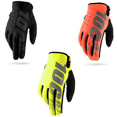 AU29.89 • Buy New 100% Brisker Warm MX Motocross Gloves Cold Weather Thermal Motorbike