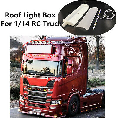 £31.32 • Buy Truck Roof Lights Box For 1/14 Tamiya Scania R620 730 RC Tractor Upgrade Parts