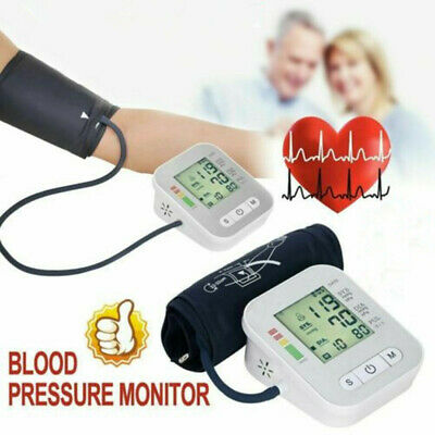 Portable Automatic Blood Pressure Monitor Upper Arm BP Machine With Large Cuff • 19.39£