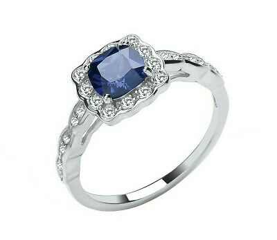 £19.95 • Buy Sterling Silver 925 Tanzanite Art Deco Style Ring - ALL SIZES AVAILABLE