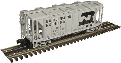 $ CDN114.67 • Buy Atlas O Scale 70Ton 2-Bay Covered Hopper (2-Rail) Burlington Northern/BN #424250