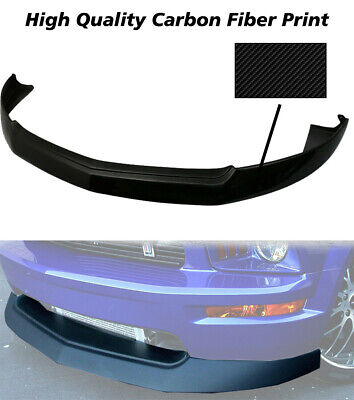 $195.50 • Buy Fits 05-09 Ford Mustang V8 GT 4.6L PU Front Bumper Lip Spoiler-Carbon Look
