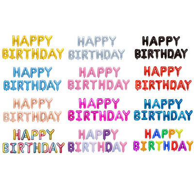 £3.99 • Buy 17 Colours - Happy Birthday Banner Balloons  - Bunting Party Decoration