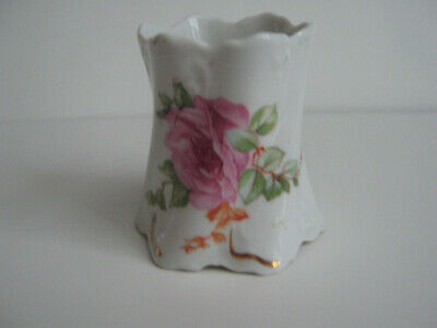 $9.99 • Buy M Z AUSTRIA PINK FLORAL CHINA TOOTHPICK HOLDER, C EARLY 20th CENTURY