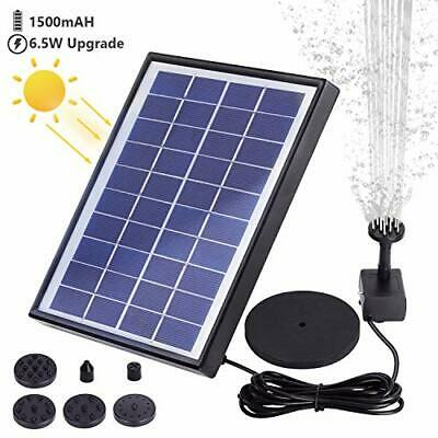 AISITIN Solar Fountain Pump 6.5W Panel With Battery Backup Solar Water Pump • 36.99£