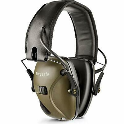 Awesafe GF01 Electronic Shooting Earmuffs Ear Defenders Noise Reduction Sound • 37£