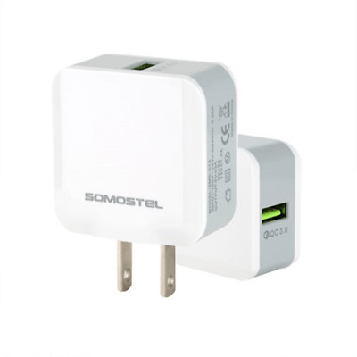 $ CDN7.44 • Buy Somostel QC 3.0 Travel Home Wall Adapter Charger WHITE
