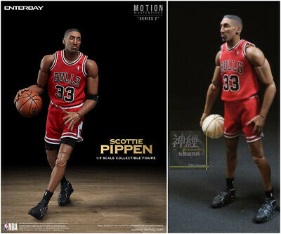 $258 • Buy Limited Edition ENTERBAY 1/9 Scottie Pippen FIGURE NBA CHICAGO BULLS MM-1208