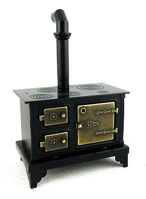 Dolls House Old Fashioned Black Metal Cooker Stove Miniature Kitchen Furniture  • 19.99£