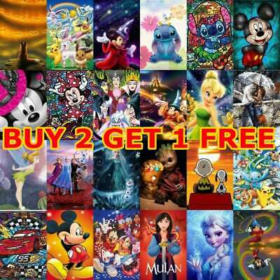 AU14.99 • Buy 5D Full Drill Diamond Painting Full Drill Embroidery Disney Role Painting Home