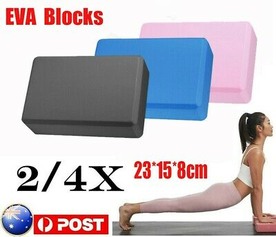 AU12.08 • Buy 2Pcs Yoga Block Brick+Fitness Foaming Home Exercise Practice Gym Sport Tool
