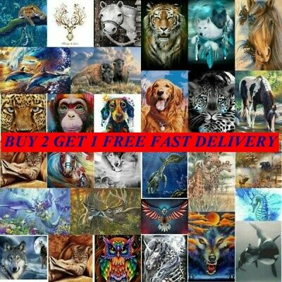 AU15.99 • Buy DIY 5D Diamond Painting Full Drill Embroidery Crafts Kit Animal Hand Home Decor