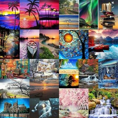 AU12.99 • Buy DIY 5D Diamond Painting Full Drill Embroidery Crafts Kit Scenery Boat Home Decor