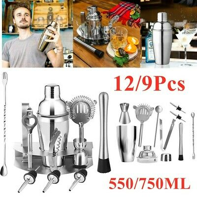 Cocktail Maker Set Shaker Mixer Stainless Steel Bartender Kit Bar Drink Making • 14.99£