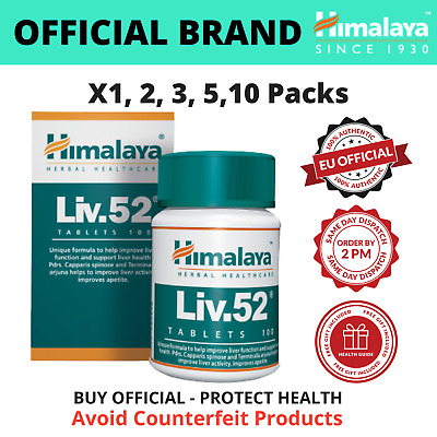 Liv.52 Tablets 100 To 1000- BUY Liv52 DIRECTLY FROM BRAND- Free Liver Care EBook • 15£