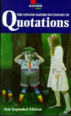 £2.92 • Buy The Concise Oxford Dictionary Of Quotations By Angela Partington Amazing Value