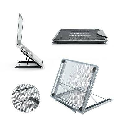 Adjustable Laptop Stand Folding Portable Mesh Tablet Holder Tray Office Support • 7.99£