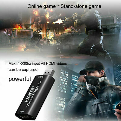New 1080P HDMI Video Capture Card Recorder USB 2.0 Game Live Capture Portable • 12.83£