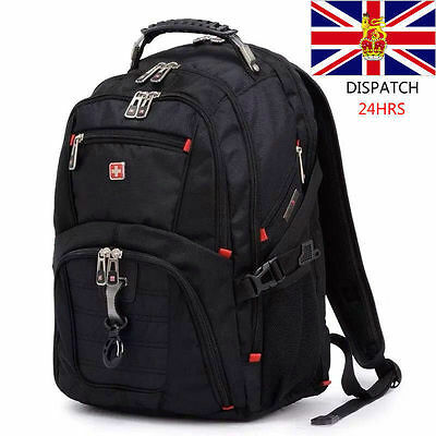 17  Original Waterproof Swiss Gear Men Travel Bags Macbook Laptop Hike Backpack • 19.98£