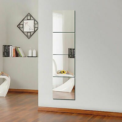 Square Mirror Tiles Wall Stickers Self Adhesive Decor Stick On Art Home 30*30cm • 7.39£