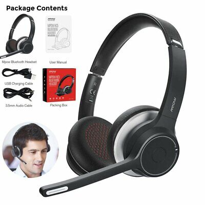 Mpow Bluetooth 5.0 Wireless Noise Cancelling Mic Over Ear Headphones Headset UK • 31.34£