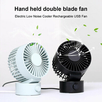 Mini Portable Desk Fan Silent Cooling Fan Air Conditioner USB Rechargeable New • 12.08£
