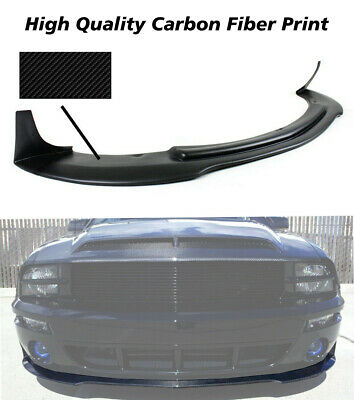 $283.32 • Buy Fit 05-09 Ford Mustang V8 CV3 Front Bumper Chin Lip Spoiler Splitter-Carbon Look