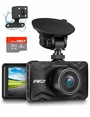 AU99.30 • Buy IIWEY Dash Cam For Cars 1080P Front And Rear Car Camera With Night Vision Dual