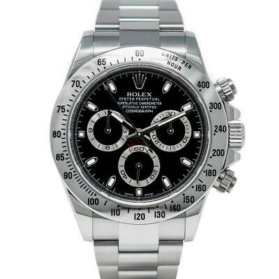 $ CDN29205.39 • Buy Rolex Cosmograph Daytona Stainless Steel 116520 Wristwatch - Black Dial