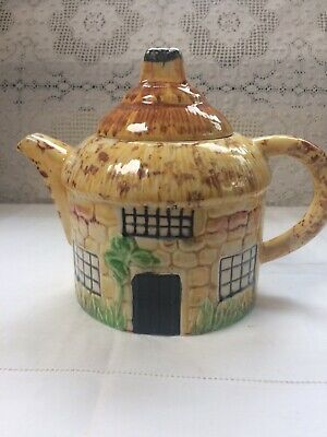 Vintage Ceramic Pottery Thatched Cottage Collectable Teapot Made In Gt Britain • 8.50£