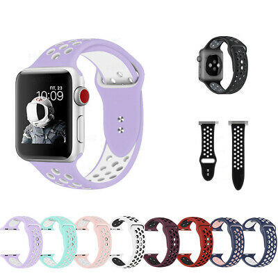 $ CDN8.83 • Buy For Apple Watch Series 1 2 3 4 Replacement Silicone Sport Band 38mm 42mm HOT