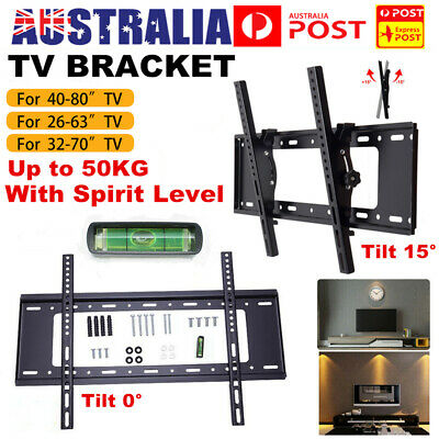 AU25.98 • Buy TV Wall Mount Bracket LCD LED Plasma Flat Slim 32 42 47 50 55 60 65 70 80 Inch