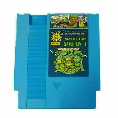 Super Games 500 IN 1 Best Games Collection 72Pins Set For Game NES Classic • 10.80£