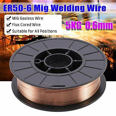 Mig Wire Gasless Self Shielded Flux Cored 0.6mm 5KG Welding Welder Reel No Gas • 16.59£