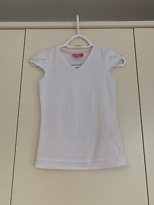 Girls White Sports Tennis Top • 3.20£