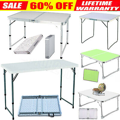 £28.74 • Buy Portable Folding Catering Trestle Table BBQ Party Camping Desk Picnic Heavy Duty