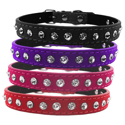 Chameleon Dog,Cat , Puppy, Pet Collar Diamond Style, 3 Sizes & 4 Colours • 5.20£