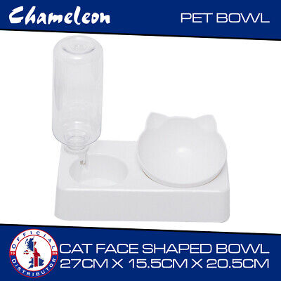 £9.85 • Buy Large Twin Bowl For Dog, Puppy, Cat Wet & Dry Feeding Food Stand