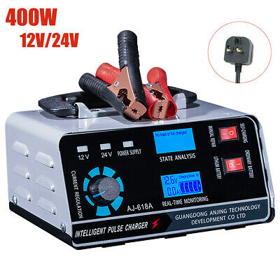 View Details Heavy Duty 30a Smart Car Battery Charger Automatic Pulse Repair Trickle 12v/24v • 37.99£