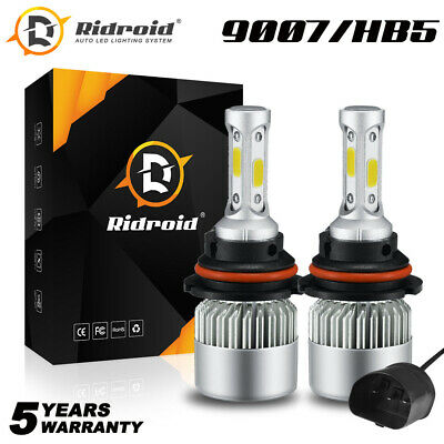 $13.99 • Buy Pair 9007 HB5 Dual LED Headlight High Low Beam Bulbs Kit 6000K 1200W 180000LM