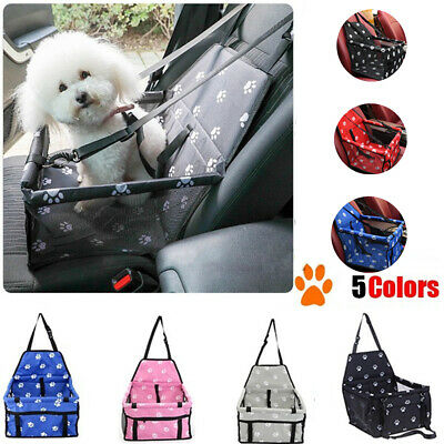 Portable Dog Car Seat Belt Booster Travel Carrier Folding Bag Cat Puppy Pets W • 14.30£