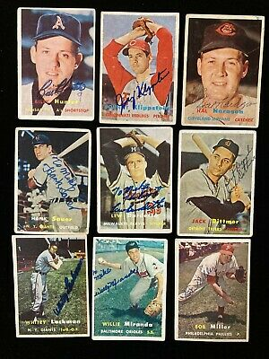 $ CDN60.24 • Buy Lot Of (11) Different 1957 Topps Cards Signed Auto Klippstein Sauer Dittmer