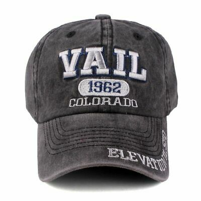 Vail Baseball Cap Mens Snapback Hats Womens Summer Dad Hat Embroidered Casquette • 13.19£