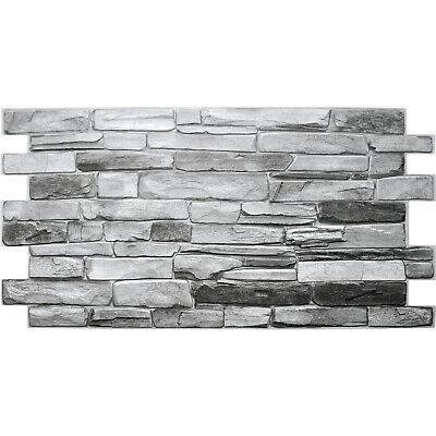 £10 • Buy PVC 3D Wall Panels Decorative Covering Tile Cladding Natural Grey Stone Effect