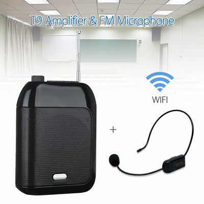 1x Aporo T9 Amplifier Voice Speaker W/FM Wireless Mic 87Mhz-108Mhz For Meeting • 27.49£