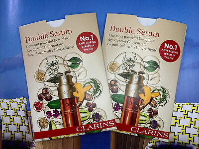 Clarins No.1 Anti Aging Double Serum Trail 0.9ml X 3 Age Control Concentrate NEW • 3.99£