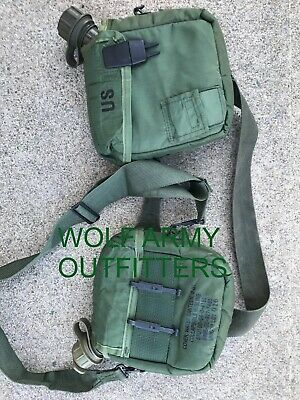 $ CDN49 • Buy Lot Of 2 US GI OG107 2 QT Canteen With Thermo Carry Bag And Belt