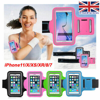 Sports Running Armband Case Jogging Gym Bag Cover Holder For I Phone 11 X 8 7 6s • 3.99£