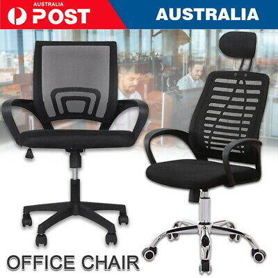 AU71 • Buy Black Office Chair Gaming Computer Chairs Mesh Back Executive Seating Study Seat