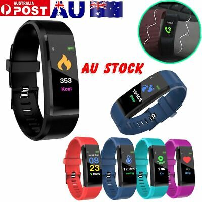 AU12.36 • Buy Fitness Smart Watch Activity Tracker WomenMen Kids Fitbit Android IOS Heart Rate